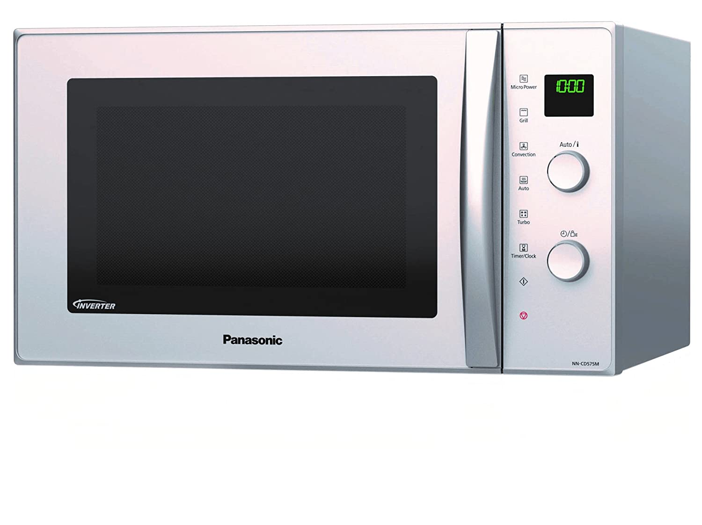 Panasonic NN-CD555WEPG Encimera 27L 1000W Blanco - Microondas (Encimera, 27 L, 1000 W, Giratorio, Blanco, Izquierda): Panasonic: Amazon.es: Hogar