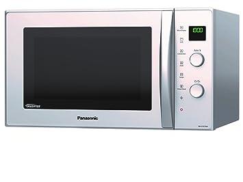 Panasonic NN-CD575MEPG - Horno microondas slim Inverter, 27 l, 1000 W,