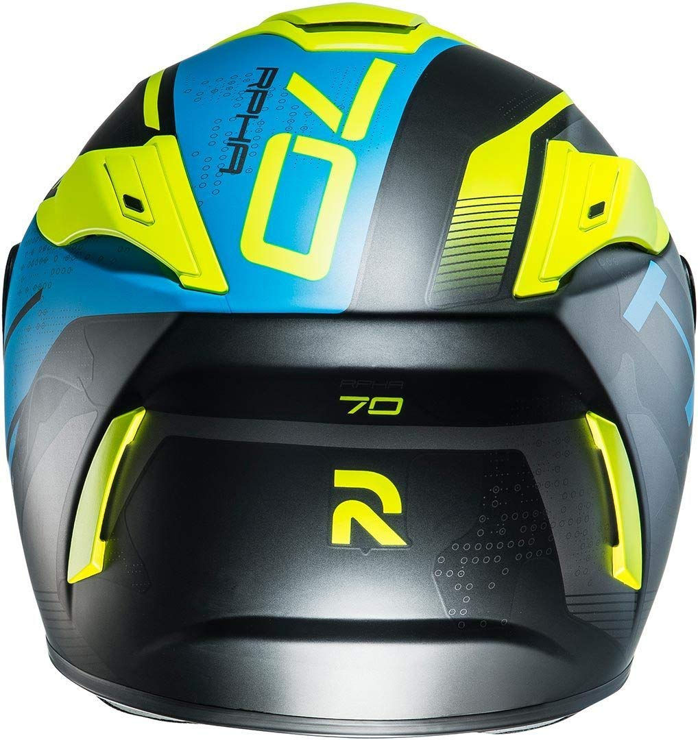 Gr/ö/ße S Schwarz//Blau//Gelb HJC Motorradhelm RPHA 70 Vias MC2SF