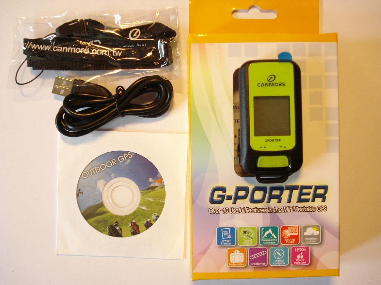 Green G-PORTER GP-102+ Multifunction Handheld GPS Receiver with 15 Useful Futures Location Finder Outdoor Tracker Position Marker Data Logger Geocaching