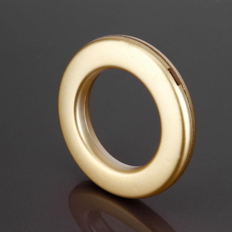 20/PCS Runde Form Kunststoff Ring f/ür /Öse Vorhang Jalousie Draperie Kreis Slide Ringe T/üllen Clips Low Noise matt gold