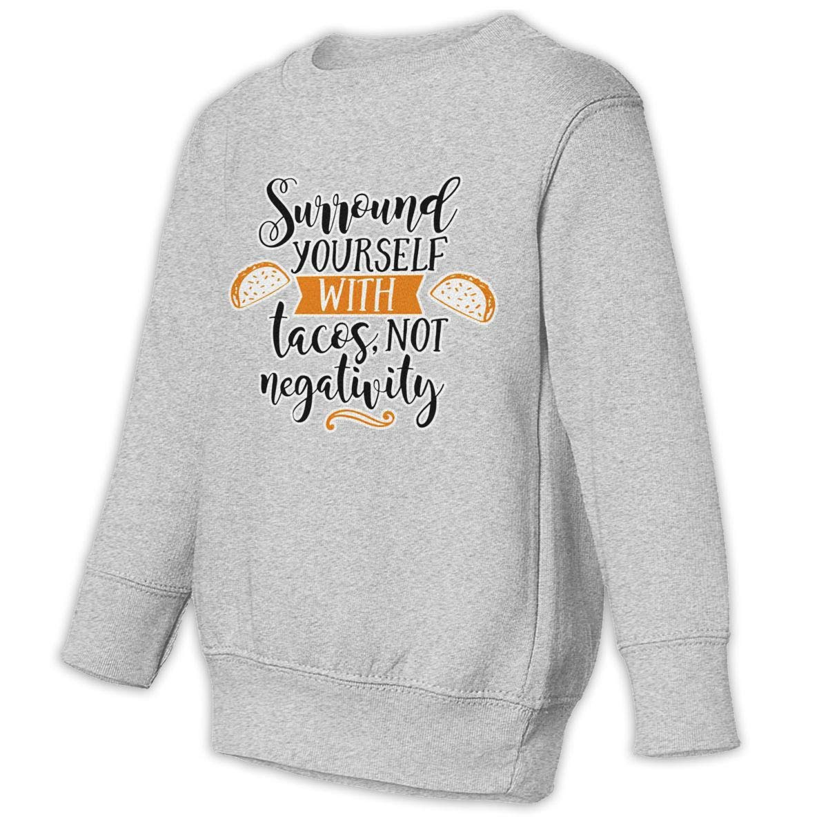 NMDJC CCQ Surround Yourself with Tacos Baby Sweatshirt Adorable Kids Hoodies Cotton T Shirts