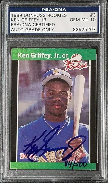 e6078e5938 Ken Griffey Jr Signed 1989 Donruss Rookies RC Card #548 PSA/DNA Gem ...