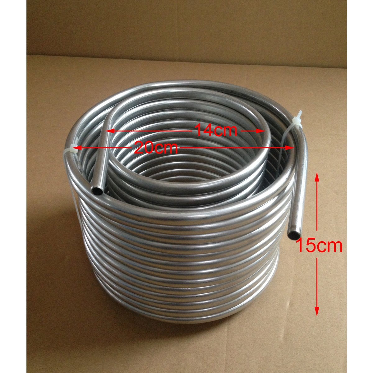 Cooling Coil Pipe, SENREAL Super Efficient Stainless Steel Cooling Coil Home Brewing Wort Chiller Pipe-#1 by SENREAL (Image #8)