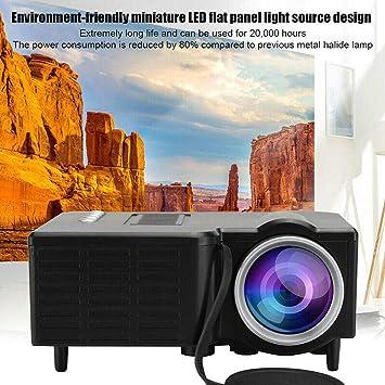 Proyector, Portable Mini Cine en Casa Película Proyector con 20,000 Horas Lámpara LED Vida, Full HD 1080P Admite, Compatible con TV PS4, HDMI, VGA, TF, AV Y USB - Blanco, Free Size: