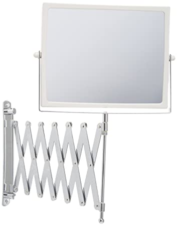 Jerdon J2020C 83 Inch Two Sided Swivel Wall Mount Mirror With 5x Magnification