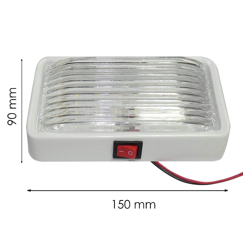Lámpara de techo LED para interior de caravana, camión o barco (12 V): Amazon.es: Coche y moto