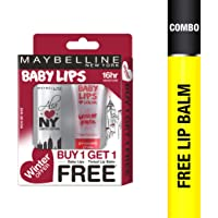 Maybelline New York Winter Promo, Highline Wine, 04g with Free Strawberry Crush, 9ml