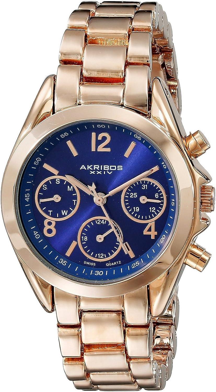 [アクリボス XXIV]Akribos XXIV 腕時計 Analog Display Swiss Quartz Rose Gold Watch AK809RGBU レディース [並行輸入品]