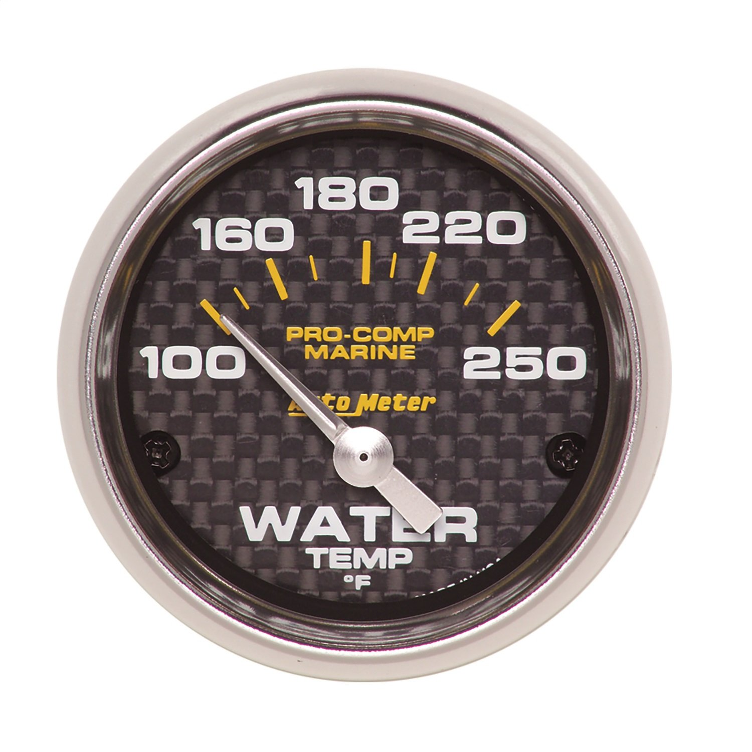 GAUGE, WATER TEMP, 2 1/16 in, 100-250 degree F, ELECTRIC, MARINE CARBON FIBER