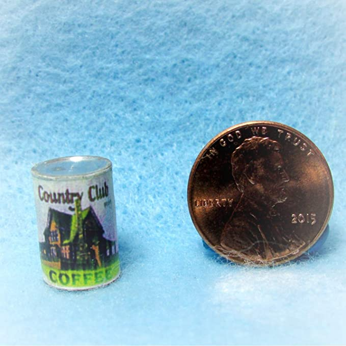 Dollhouse Miniature Can of Country Club Coffee