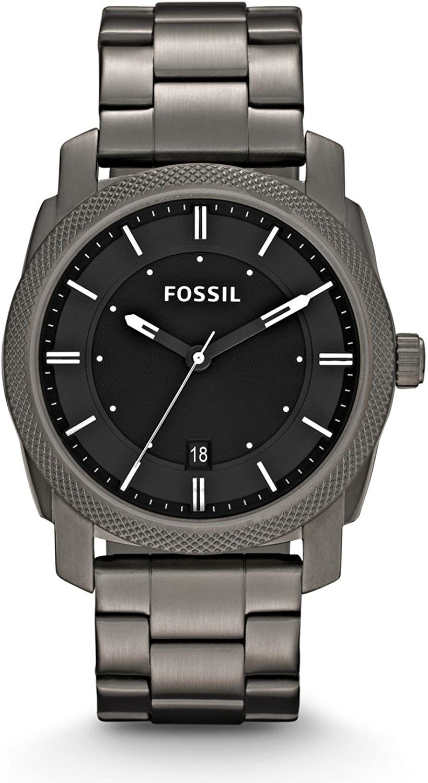 Fossil Reloj Analógico para Hombre de Cuarzo con Correa en Acero Inoxidable FS4774