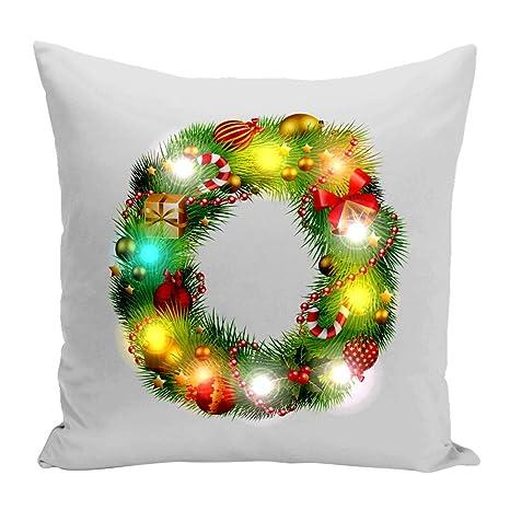 Homeofying - Funda de Cojín con luz LED de Navidad, Diseño ...
