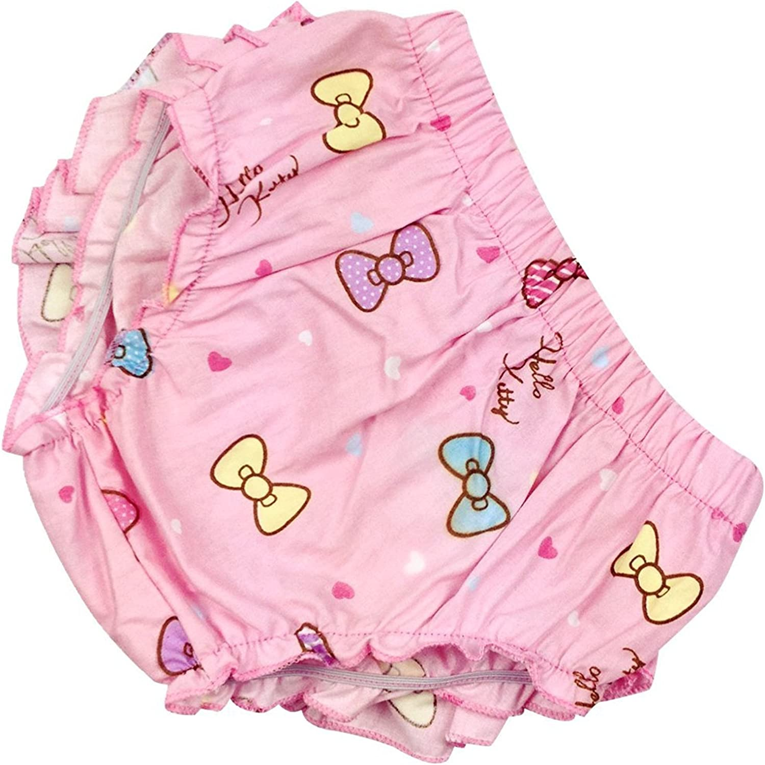 Jojobaby Baby Girls 2 Piece Pompon Ruffle Bloomers Diaper Covers with Headband Set 100/% Cotton