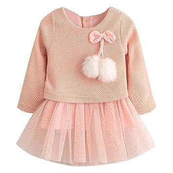 ce1ff170d Akaddy - Vestido de punto de lana para bebé