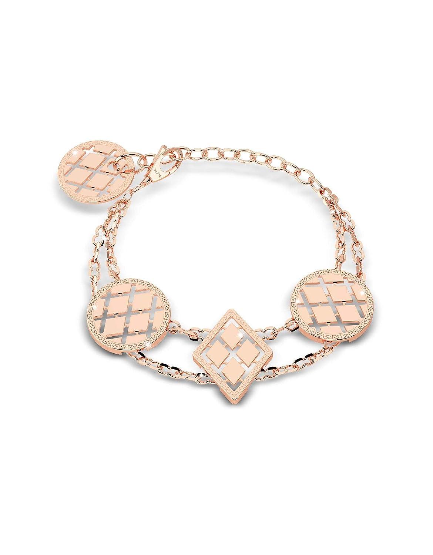 Rebecca Women's B10BRR05 Pink Steel Bracelet