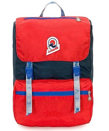 top design best choice on sale online Backpack INVICTA - JOLLY III VINTAGE - Blue Red original - Laptop pocket –  casual 18 LT