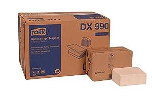 "Tork DX990 Advanced Plus Xpressnap Dispenser Napkin, Interfold, 2-Ply, 8.5"" Length x 6.5"" Width, Beige (Case of 12 Packs, 400 per Pack, 4,800 Napkins)"