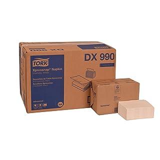 "Tork DX990 Advanced Plus Xpressnap Dispenser Napkin, Interfold, 2-Ply, 8.5"" Length x 6.5"" Width, White (Case of 12 Packs, 400 per Pack, 4,800 Napkins)"