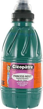 Cleopatre - Pam1-16 - Pintura Guache Princess Merit - Frasco De 500 Ml - Verde Esmeralda: Amazon.es: Oficina y papelería