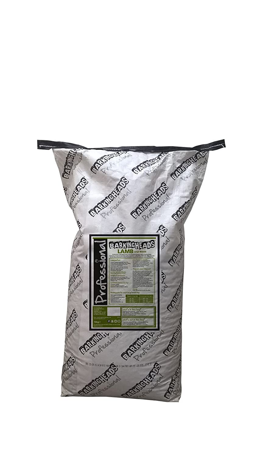 Barking Heads BFBHD18 Hundefutter Professional Large Breed Lamb, 18 Kg