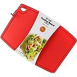 シリコーンまな板、Liflicon [クッキングエキスパート]FDA LFGBによる認定、食品グレードのシリコーン、抗菌熱 カラー (赤)