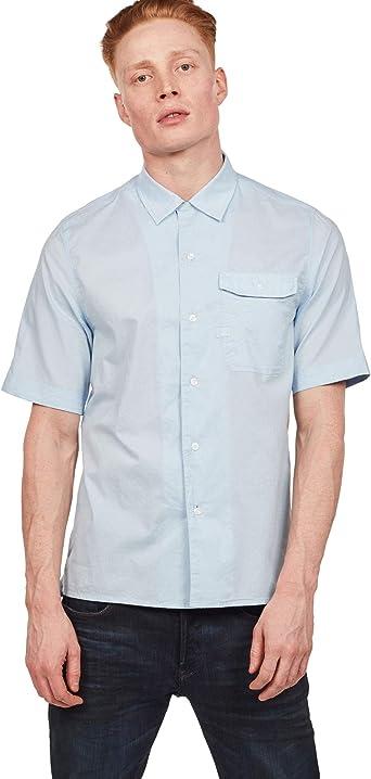 G-STAR RAW XPO - Camisa de servicio recto para hombre Azul (Lt Wave B073-599) S: Amazon.es: Ropa y accesorios