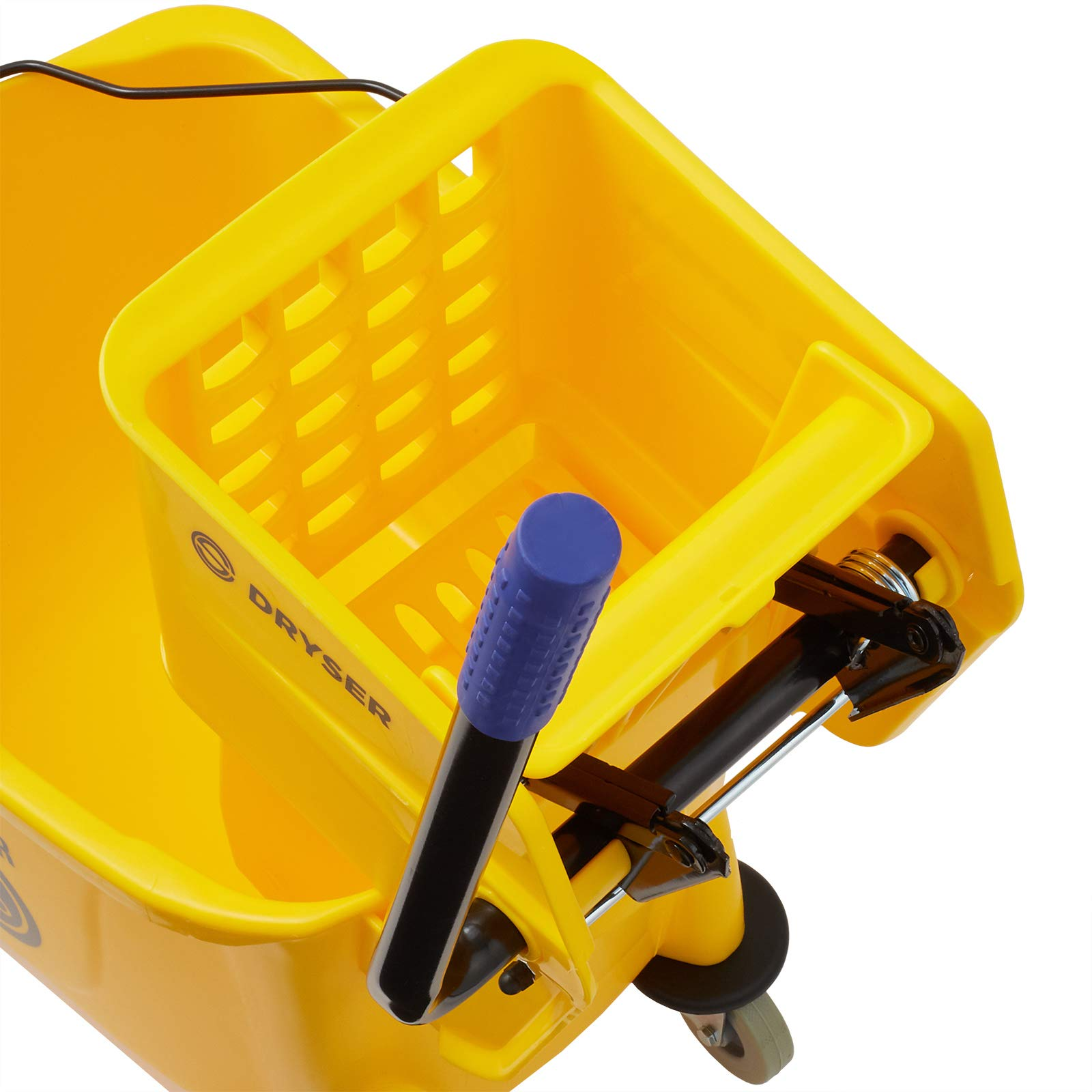 Dryser Commercial Mop Bucket with Side Press Wringer, 33 Quart, Yellow by Dryser (Image #4)