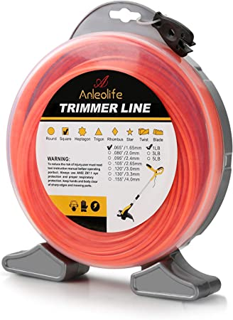 Anleolife Commercial Square .065-Inch-by-960-ft String Trimmer Line - Best for Power and Flexibility