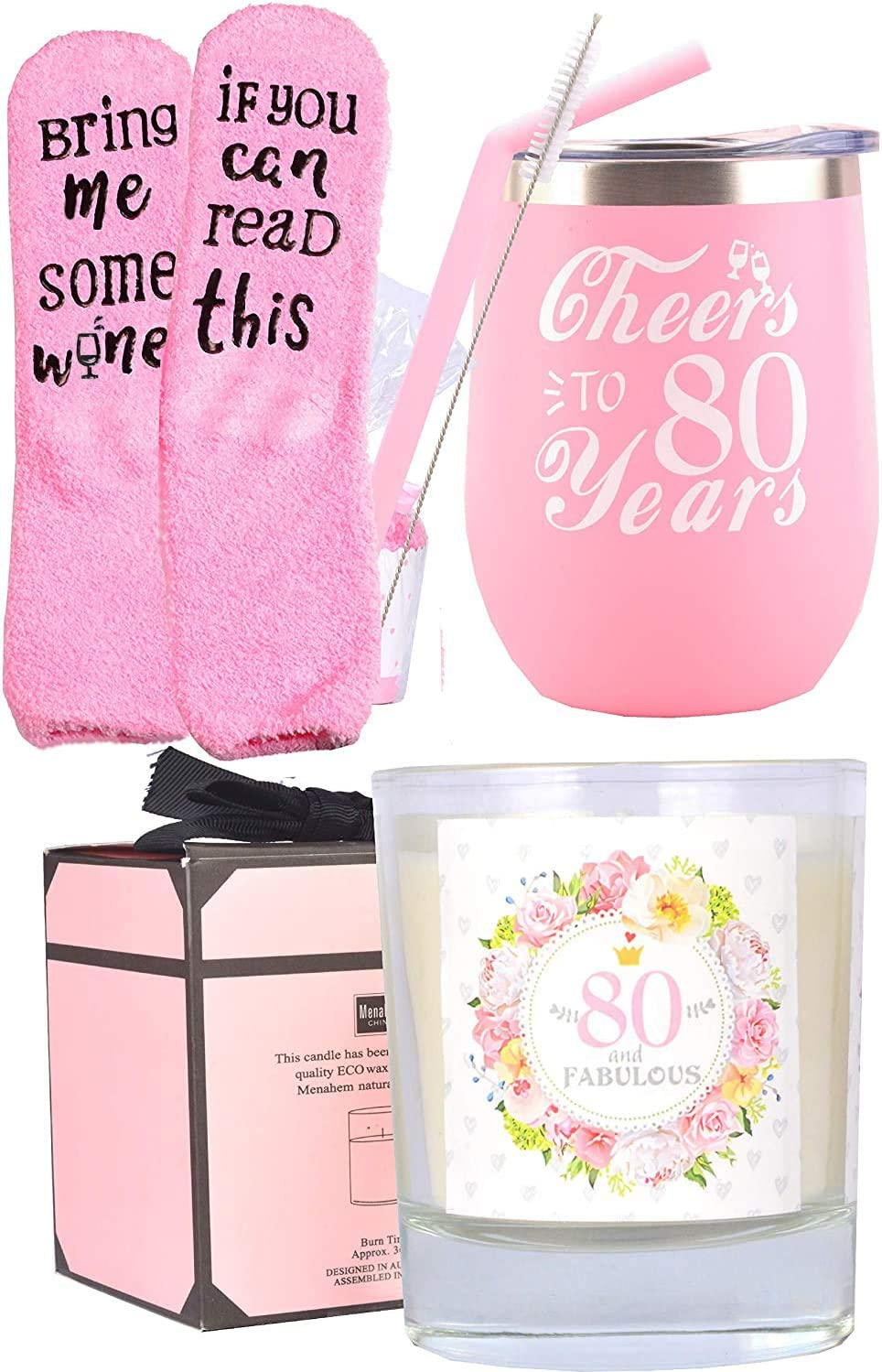 Amazon Com 80th Birthday Gifts For Women 80th Birthday 80th Birthday Tumbler 80th Birthday Decorations For Women Gifts For 80 Year Old Woman Turning 80 Year Old Birthday Gifts Ideas For Women