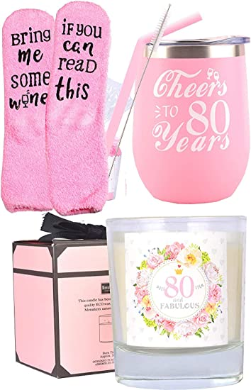 80th Birthday Gifts for Women,  Gifts for 80 Year Old Woman