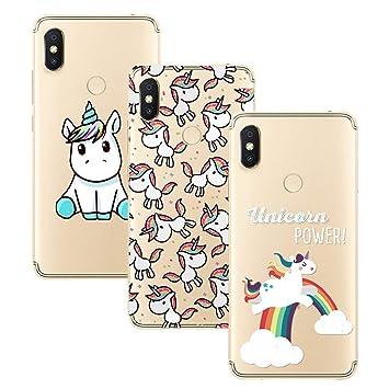 Young & Ming Xiaomi Redmi S2 Funda, [3 Pack] Carcasa Transparente Slilicona Suave TPU Gel Enjaca Perfecta para Xiaomi Redmi S2, Color 2