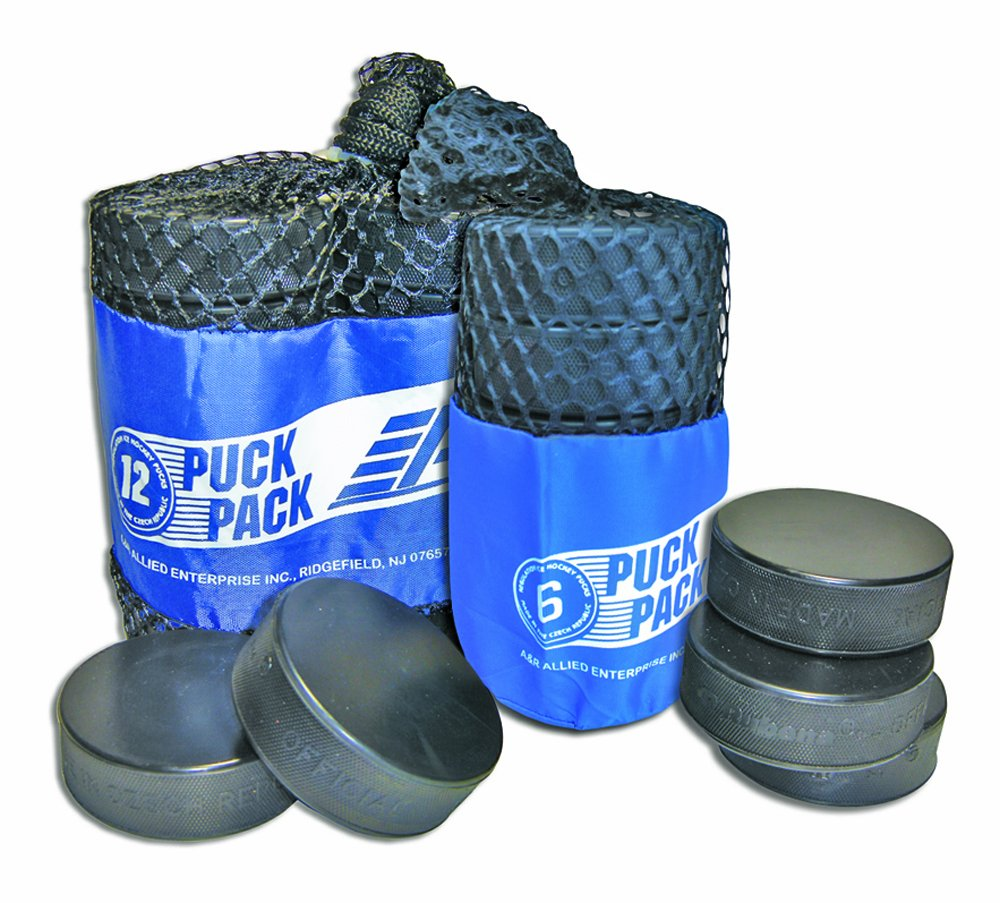 A/&R Sports Ice Hockey Puck Pack of 6