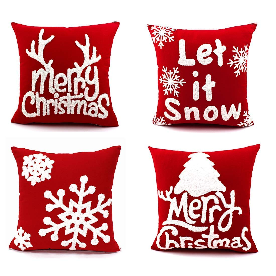 KOMIWOO Christmas Throw Pillow Covers