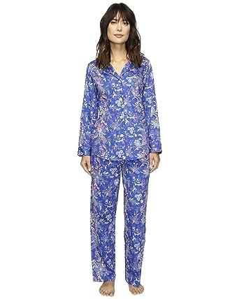 6d1739858f61 Lauren Ralph Lauren Women s Sateen Notch Collar Pajama (MD (US 8-10 ...