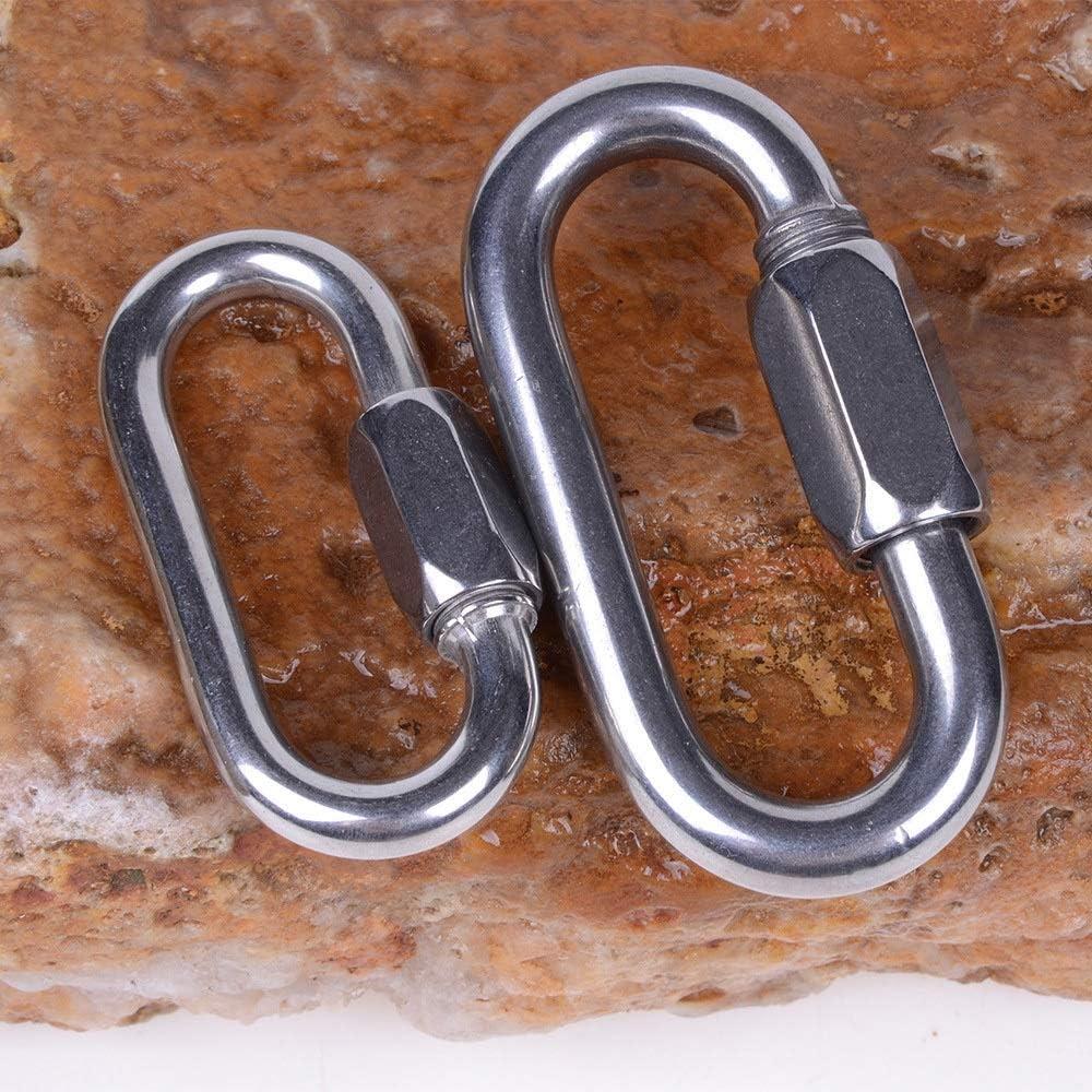 FUBULECY MEI LAN Lock Karabiner Klettern Hauptschloss Edelstahl Sicherheitsschnalle Schloss h/ängen Size : 6mm