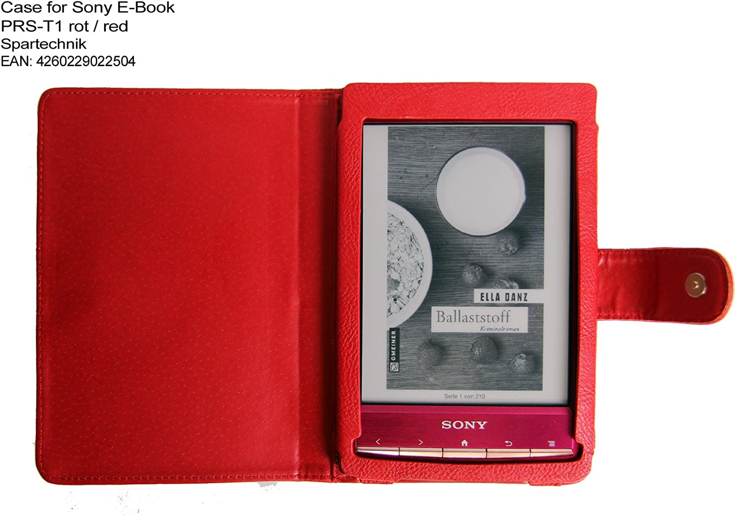 Funda para e-reader Sony PRS-T1, color rojo: Amazon.es: Electrónica