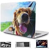OneGet - Carcasa rígida de plástico para MacBook Air de 13 pulgadas, diseño de perro feliz con protector de visualización HD