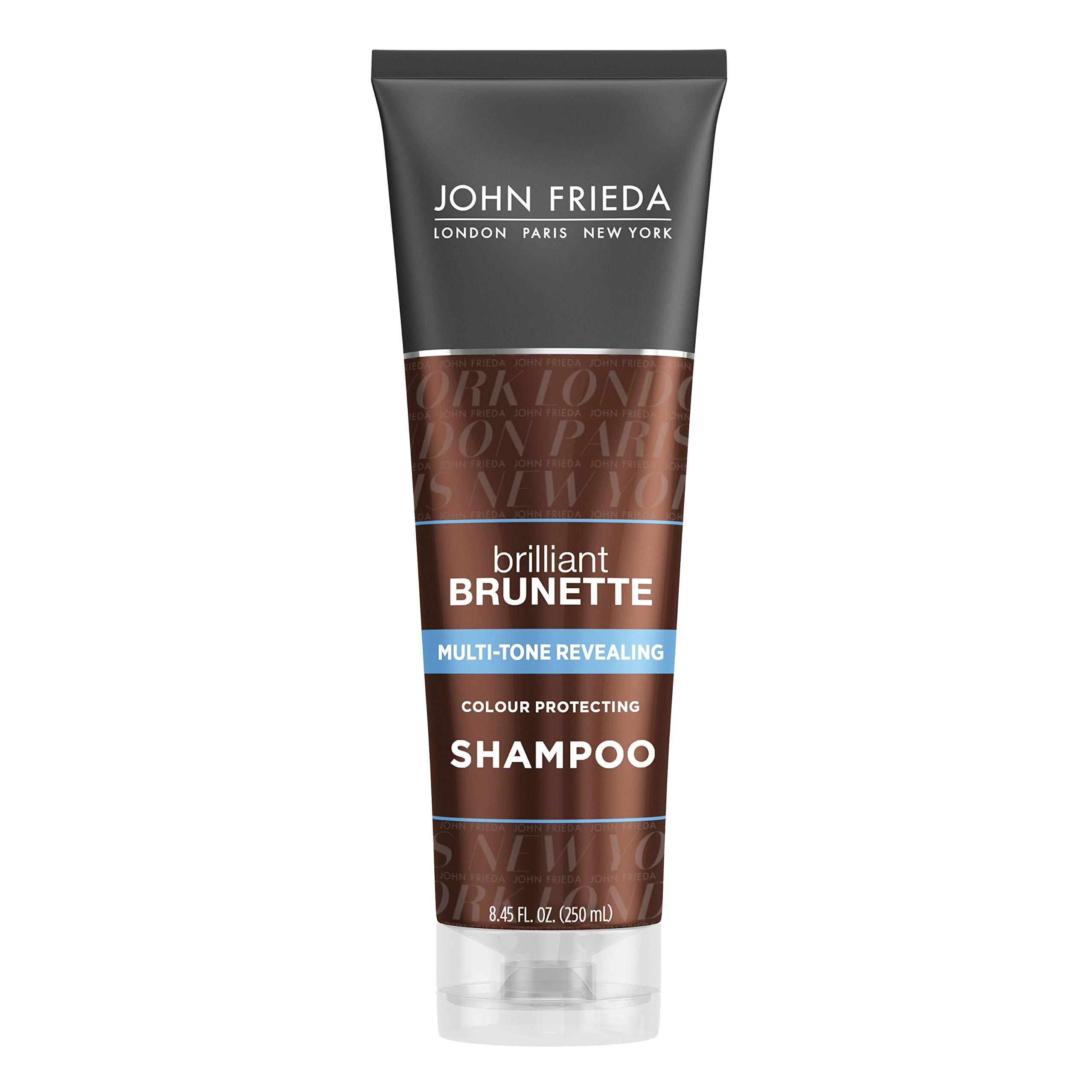 John Frieda Brilliant Brunette Multi-Tone Revealing Shampoo, Color Protecting Shampoo, Helps Unlock Vibrant Color, 8.45 Ounce