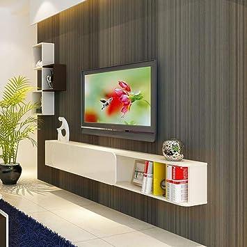 Mueble TV de Pared Estante de la Pared Estante Flotante Estante para Libros Set Top Box