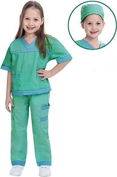 Amazon.com: Dr. Scrubs Deluxe Kids Toddler Vet Costume Set in ...