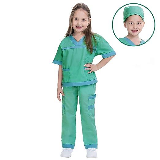 d0e4ba1f4349f Dr. Scrubs Deluxe Kids Toddler Vet Costume Set in Green for Scrub's Pretend  Play,