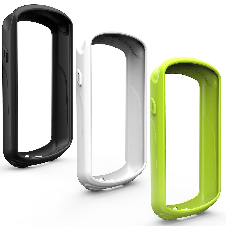 TUSITA Housse de Protection pour Garmin Edge 1030, Housse en Silicone avec Protecteur d'écran pour Garmin Edge 1030 GPS