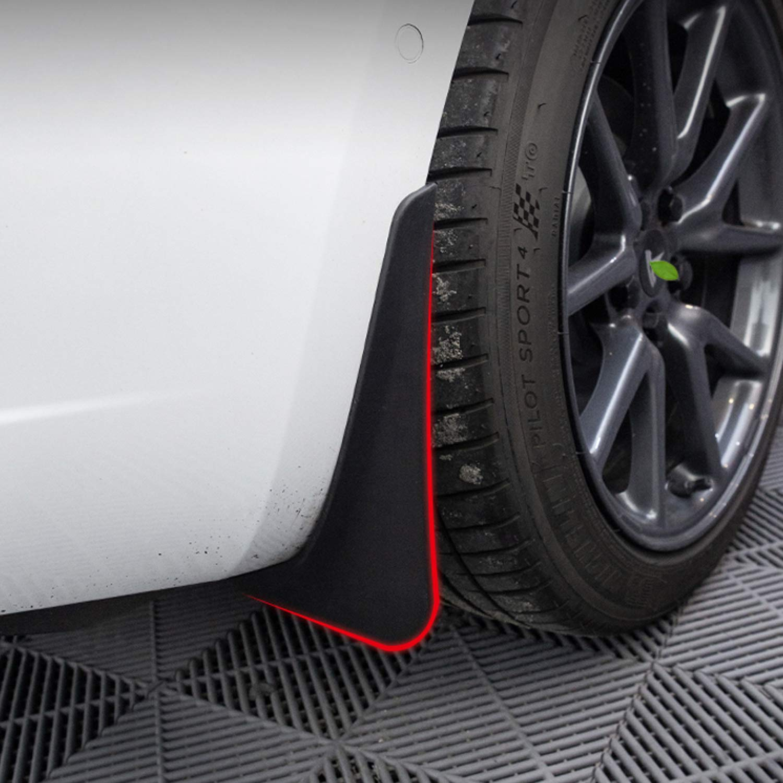 omotor fits Model 3 Mud Guards Flaps Splash Fender Mudguard for Tesla Model 3 with Fixing Screw
