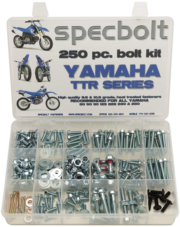 Specbolt Fasteners Bolt Kit | Yamaha - TTR50 TTR90 TTR110 TTR125 TTR225 TTR230 TTR250 Models 2000-2019 series: pro plus pack (L)