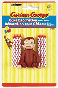 Sensational Amazon Com Curious George Cake Topper Birthday Candle Set Toys Funny Birthday Cards Online Sheoxdamsfinfo