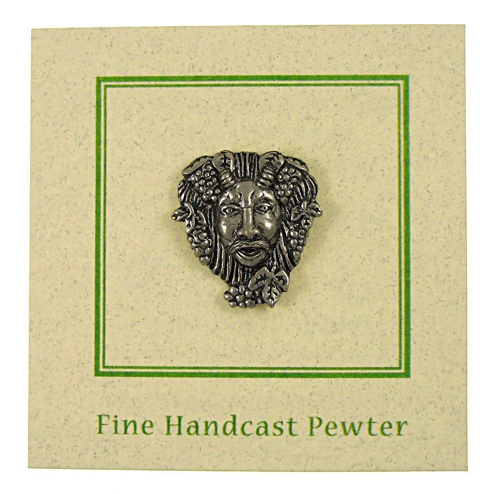 Bacchus Pewter Lapel Pin