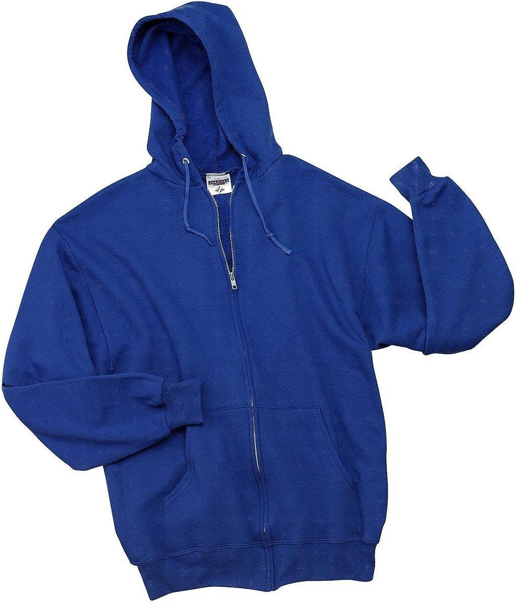 XL Jerzees 50//50 Youth Full-Zip Hooded Sweatshirt Royal 993B
