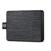 Seagate One Touch, 500 GB, Taşınabilir SSD, Siyah