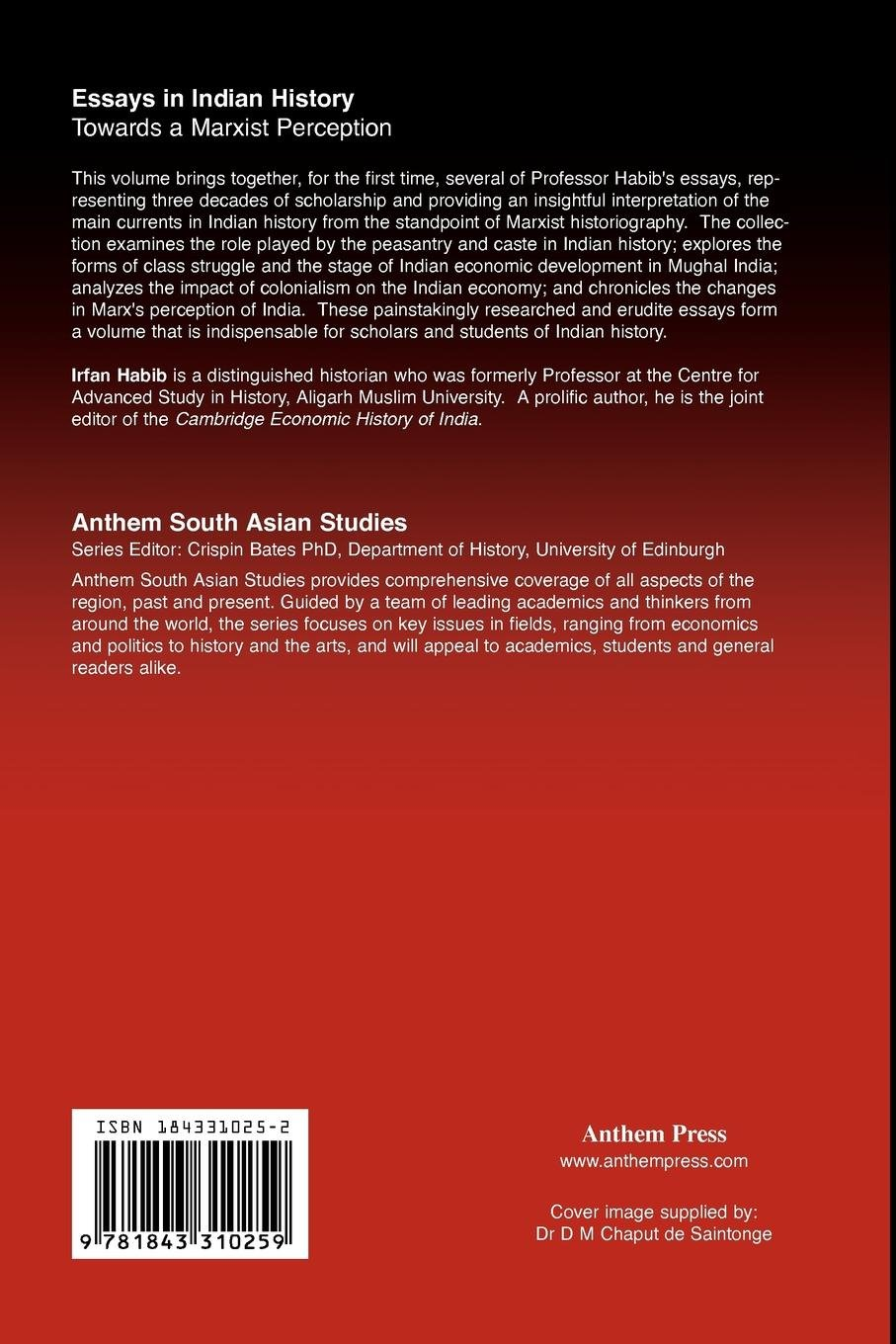 Essays In Indian History: Towards a Marxist Perception ...